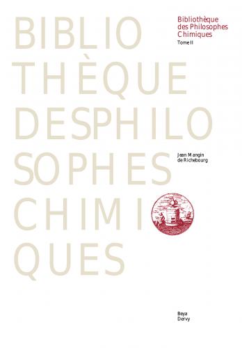 BIBLIOTHÈQUE DES PHILOSOPHES CHIMIQUES